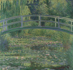 "impressionism the great history of art ""the waterlily pond"" by claude monet 1899 is an oil on canvas composition that depicts the typical impressionistic use of the broken colour technique and"